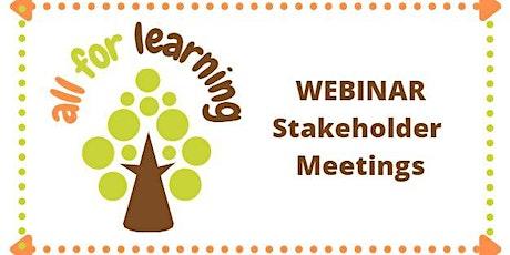 Educators - Stakeholder Meetings tickets