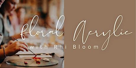 Floral Acrylic Workshop tickets