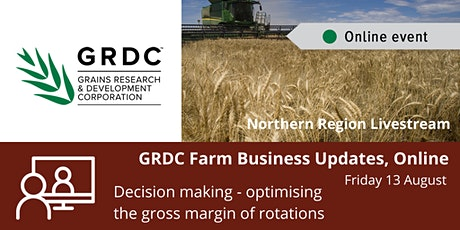 GRDC  North Livestream 13 August - Decision Making - Optimising Rotations tickets