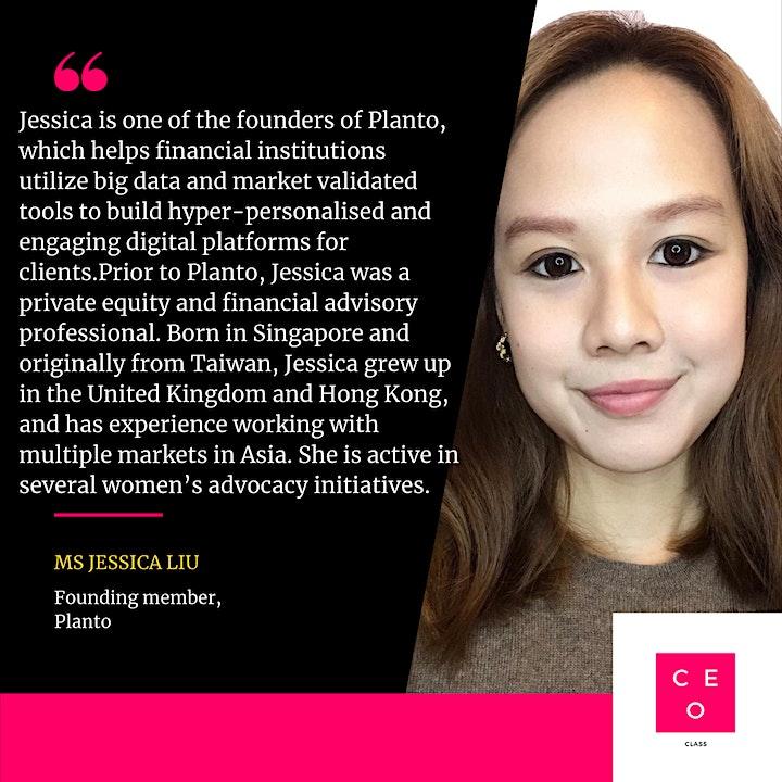 CEO Class - Ms Jessica Liu  (Founding member, Planto) image