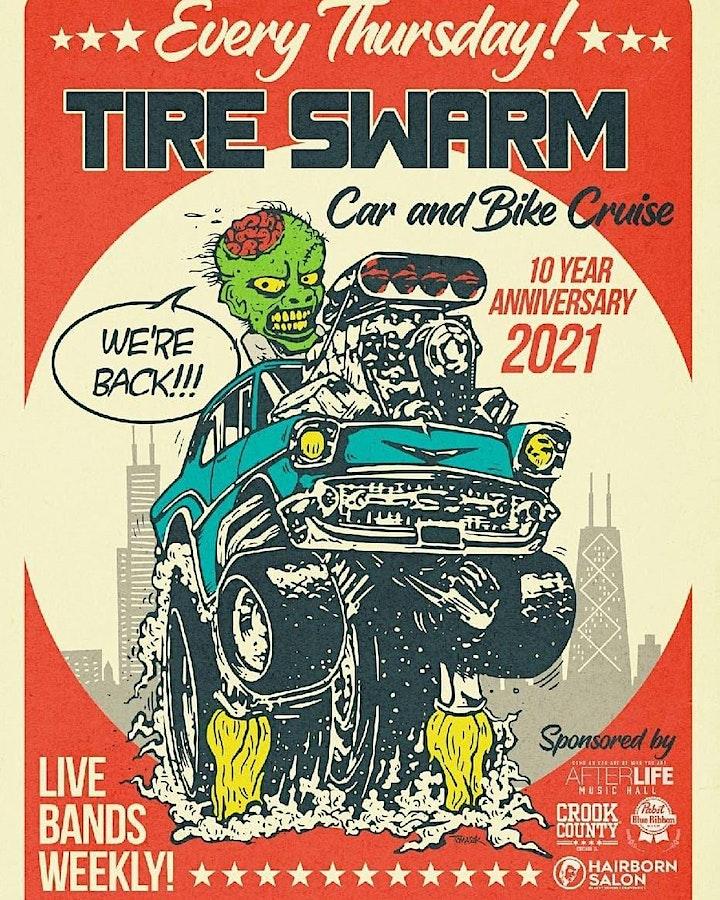 Tire Swarm Car & Bike Show with Back Roads Biker Band image