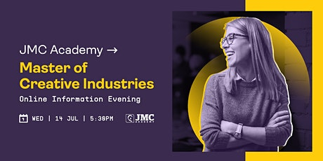 Master of Creative Industries Online Information Evening tickets