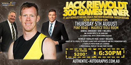 Jack Riewoldt 300 Games Dinner at Punt Road, Richmond! tickets