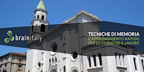 Pescara: Corso gratuito di memoria biglietti