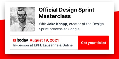 The official Design Sprint Masterclass with Jake Knapp billets