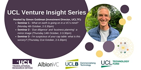Venture Insight - Seminar series for Translational Researchers at UCL tickets