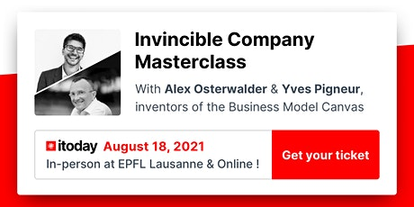 Invincible Company Masterclass with Alex Osterwalder and Yves Pigneur billets