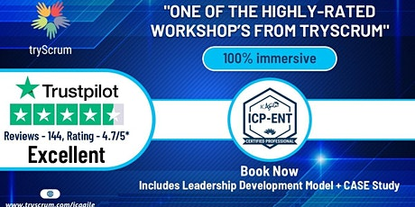 ICAgile- Agility in the Enterprise (ENT) by tryScrum tickets