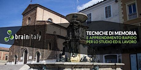 Faenza: Corso gratuito di memoria biglietti
