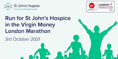 Virgin Money London Marathon 2021 - St John's Hospice London Charity Places tickets