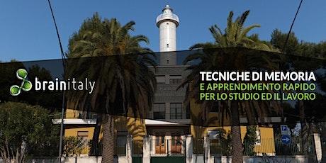 San Benedetto del Tronto: Corso gratuito di memoria biglietti
