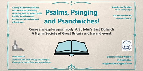 Psalms, Psinging and Psandwiches - Livestream tickets