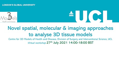 Novel spatial, molecular & imaging approaches to analyse 3D tissue models tickets
