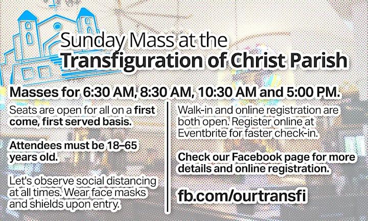 Sunday Mass at Transfiguration of Christ Parish image