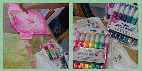 Fabric Spray Paint Workshop tickets