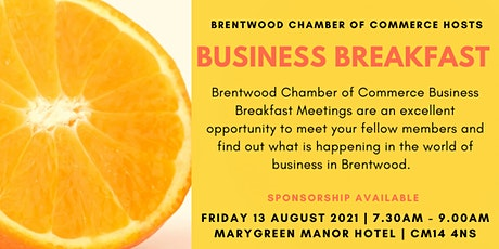 August 2021 Brentwood Chamber of Commerce Business Breakfast tickets