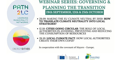 Webinar series: Governing & planning the transition to climate-neutrality tickets