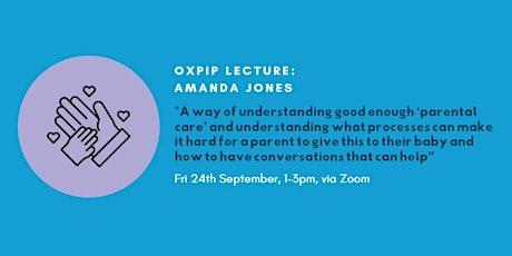 OXPIP Lecture - Amanda Jones tickets