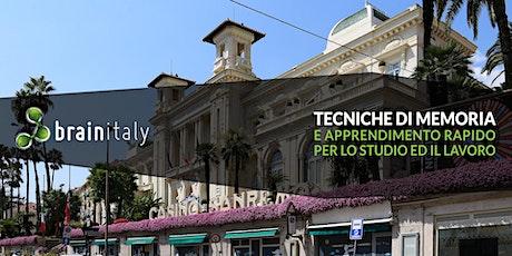 Sanremo: Corso gratuito di memoria tickets