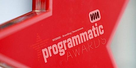 Programmatic Awards Webinar #2 tickets