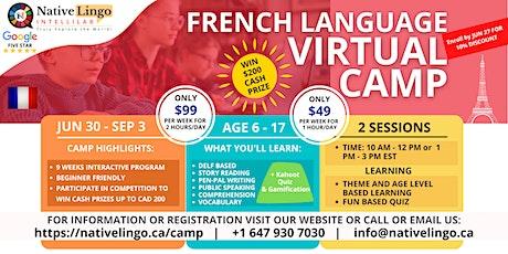 NativeLingo French Virtual  Summer Camp for Kids  | Native Speaker Teachers tickets