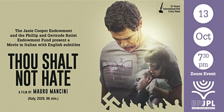 """""""Thou Shalt Not Hate"""" (Italy, 2020) tickets"""