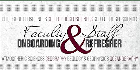 2021 Geosciences Onboarding & Refresher tickets
