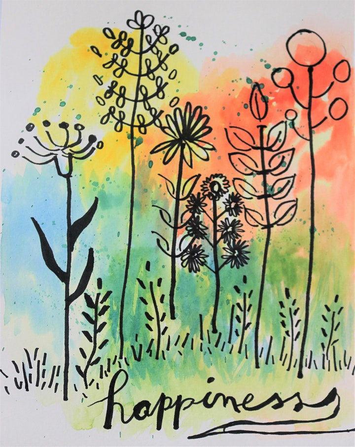 Fun  Lettering & Watercolor Art Class for Teens and Adults image