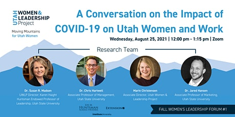 A Conversation on the Impact of COVID-19 on Utah Women and Work tickets