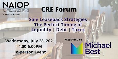 CRE Forum: Sale Leaseback Strategies tickets