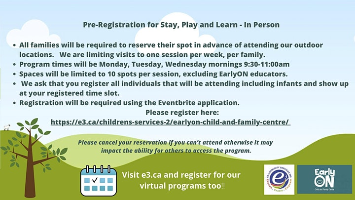 EarlyON Collingwood Outdoor Stay, Play and Learn image