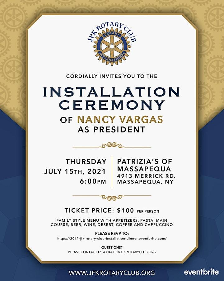 2021 JFK Rotary Club Installation Dinner image