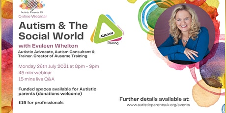 Autism and The Social World with Evaleen Whelton tickets