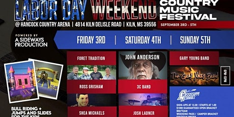 LABOR DAY WEEKEND COUNTRY MUSIC FESTIVAL WITH JOHN ANDERSON tickets