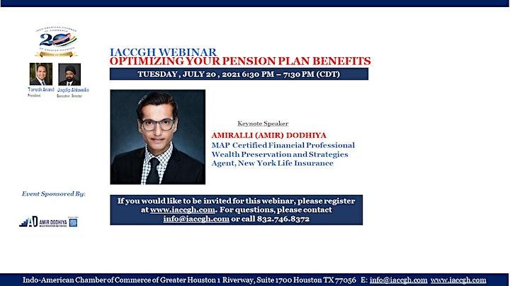 IACCGH Webinar: Optimizing for Pension Plan Benefits image