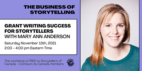Grant Writing Success for Storytellers with Mary Ann Anderson tickets