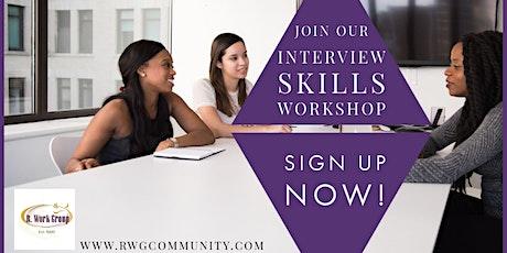 Interview Skills Part 2 - Online Workshop tickets