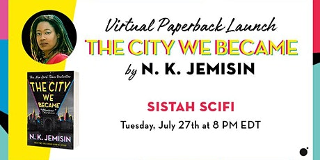 Virtual Paperback Launch: The City We Became by NK Jemisin biglietti