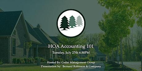 HOA Accounting 101 tickets