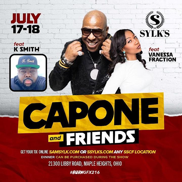 Sam Sylk presents Comedian Capone & Friends image
