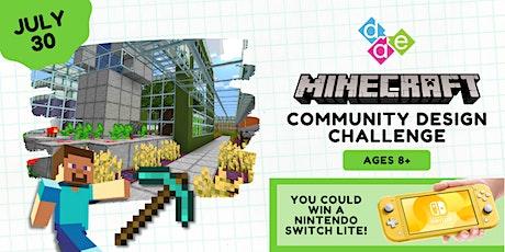 Minecraft Community Design Challenge tickets