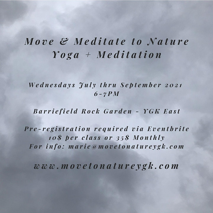 Move & Meditate To Nature - Wednesdays at the Barriefield Rock Garden image