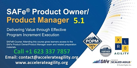 SAFe Product Owner/Product Manager 5.1 tickets