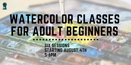 Watercolor Classes for Adult Beginners: In Person & Zoom tickets