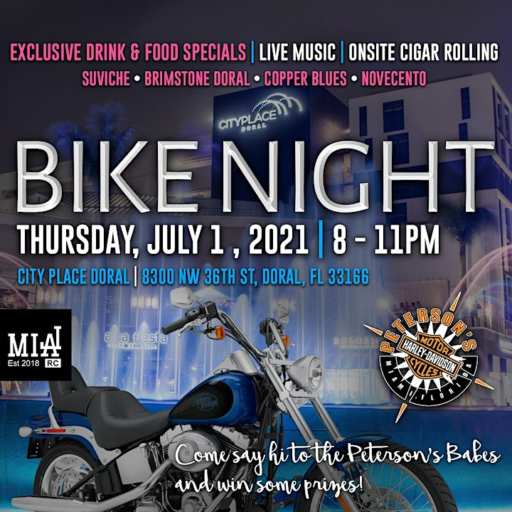 Peterson's Harley-Davidson Bike Night at CityPlace Doral image