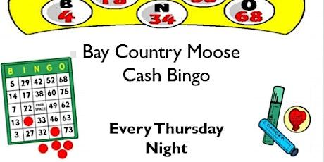 Bay Country Moose Cash Bingo tickets