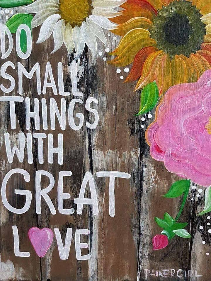 Painter Girl with Community Coming Together (CCT) - Do Small Things image