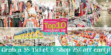 $5 Presale Ticket - shop 75% off at Kids EveryWEAR before the public tickets