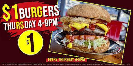 $1 Burgers on Thursdays tickets