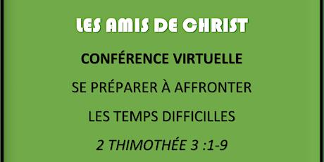 Conférence des serviteurs de Dieu (Se préparer pour la fin des temps) billets